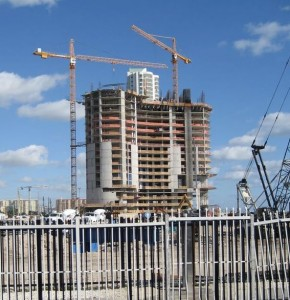 A shot of construction in North Miami Beach