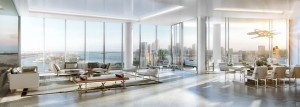 Rendering of a Paramount Miami Worldcenter penthouse