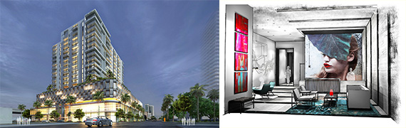 Renderings of District 36 in Midtown Miami