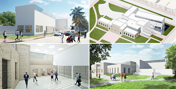 Renderings of the Bass Museum of Art