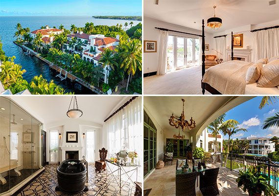 The home at 3305 South Moorings Way, which takes up half of the former Paloma Picasso estate in Coconut Grove