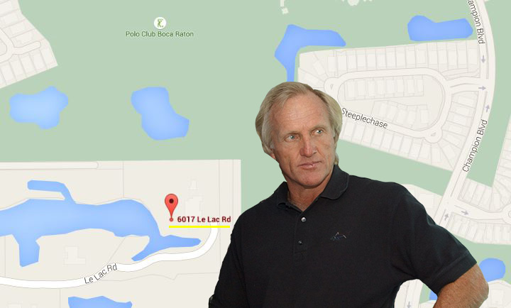 6017 Le Lac Road in Boca Raton and Greg Norman
