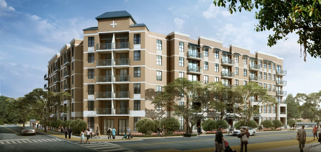 Rendering of the Courtside Family Apartments