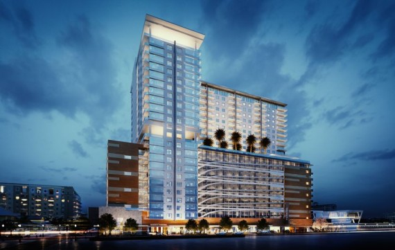 A rendering of the proposed All Aboard residential tower in West Palm Beach (Credit: Palm Beach Post)