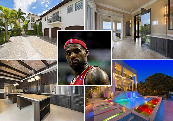 Basketball star LeBron James and 3590 Crystal View Court in Coconut Grove