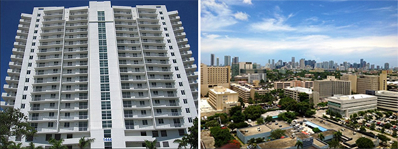 Modern Miami building and views