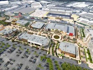 An aerial rendering of the 118,000-square-foot expansion
