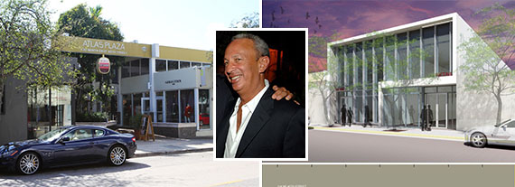 Atlas Plaza, David Edelstein and a rendering of the completed building next door.