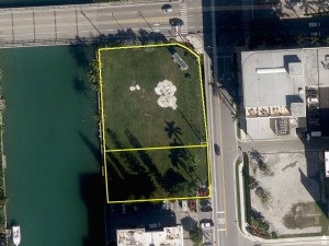 The vacant lots at 9540 to 9580 West Bay Harbor Drive