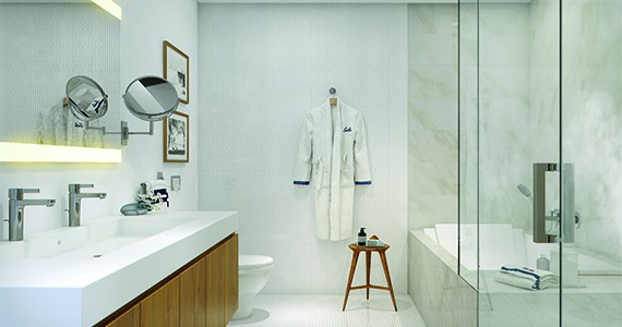 Bathroom at the Gale Fort Lauderdale