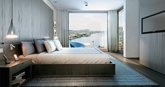 Bedroom at the Gale Fort Lauderdale