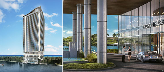 Renderings of the 40-story Hyde Beach House Hollywood