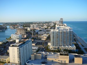 A bird's-eye view of North Beach, taken from the Akoya Condominiums in 2008 (Credit: Marc Averette)