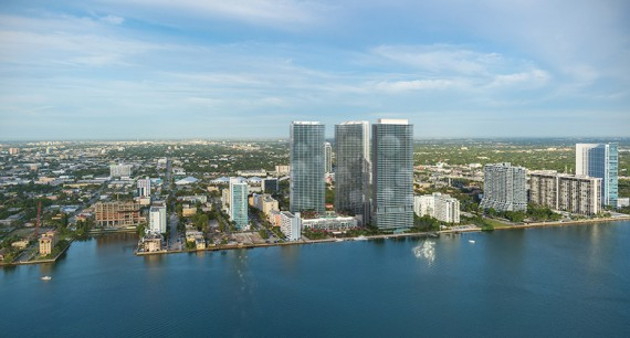 A rendering of the Paraiso complex in Edgewater