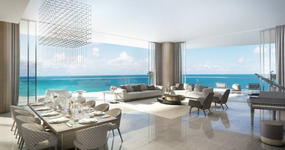 Living room at the Estates at Acqualina (Credit: ArX Solutions)