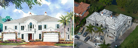 The home at 1301 Thatch Palm Drive in Boca Raton