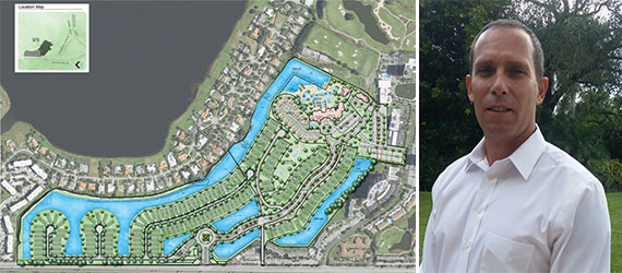 A site plan for the Banyan Cay Resort & Golf Club and Sam Bauer, who is heading the project