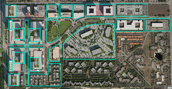 Map of Downtown Doral