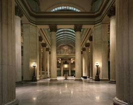 The lobby of the old Huntington Bank building.