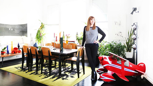 Nicole Miller at home in Tribeca