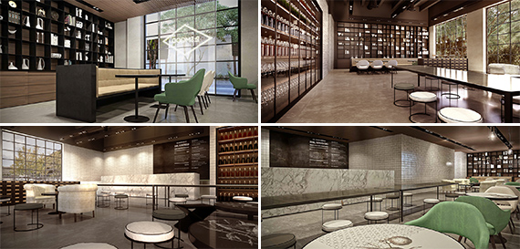 Renderings of Dr. Smood locations in Miami