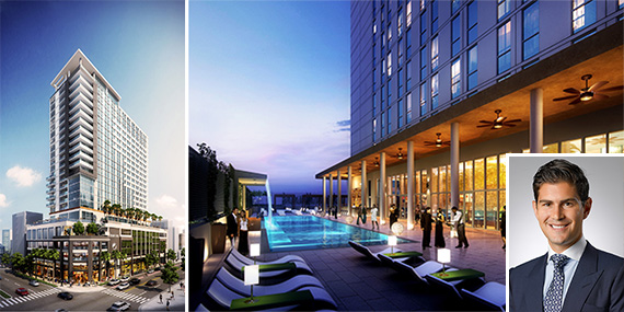 Renderings of Tribute and Element hotel in downtown Fort Lauderdale, and Jake Wurzak