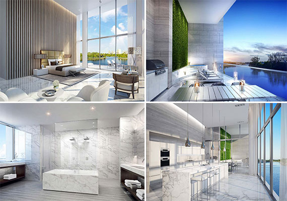 A rendering of the River Loft unit at Riva Fort Lauderdale