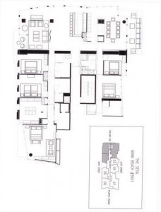A floor plan for unit 3601