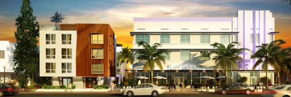 A rendering of the Lord Balfour's expansion (left) and the existing hotel (right)