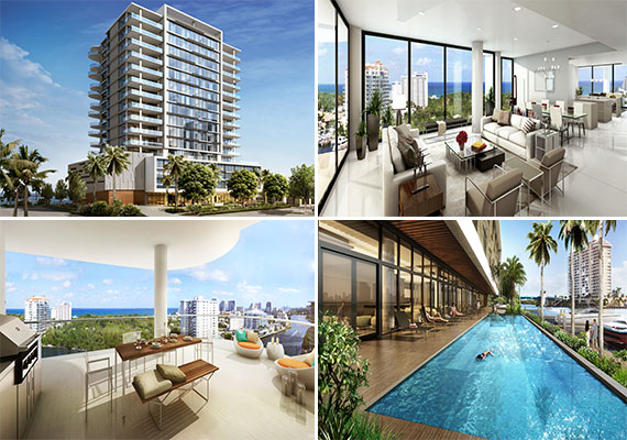 Renderings of the AquaBlu project at 920 Intracoastal Drive in Fort Lauderdale