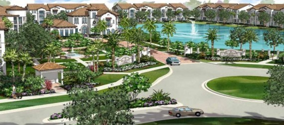 A rendering of the 395-unit apartment community currently under construction in western Delray Beach