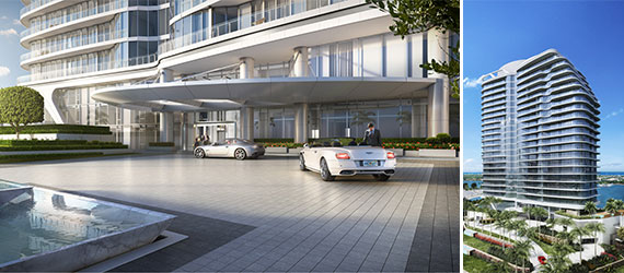 Renderings of the Bristol, an upcoming luxury condo tower in West Palm Beach