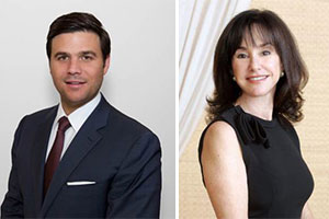Daniel de la Vega, president of ONE Sotheby's, and Diane Lieberman, head of South Beach International Realty