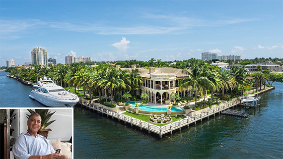 David J. and Jeanine Stern's estate in Fort Lauderdale.