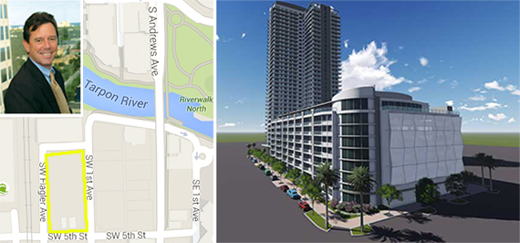 Jim Ellis, a map and rendering of the site in Fort Lauderdale