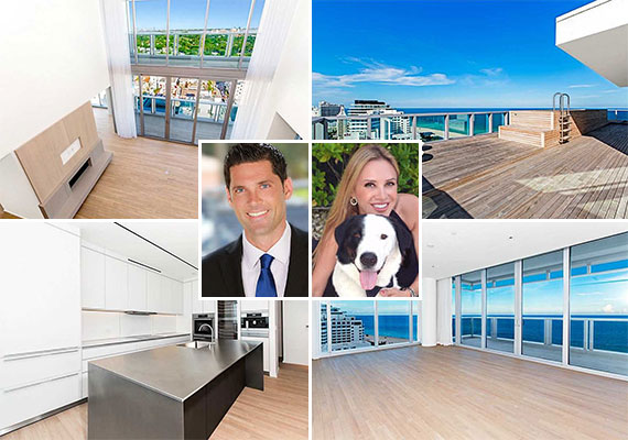Unit 1602 at the Miami Beach Edition and listing agents Chad Carroll and Laura Cresto of Douglas Elliman