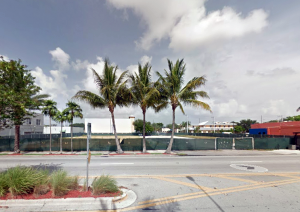 Planned site of the Hotel Morrison in Dania Beach