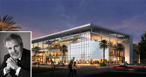 Rendering of 1212 Lincoln Road and Russell Galbut