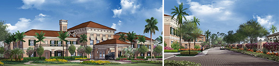Renderings of HarborChase Palm Beach Gardens