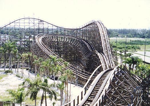 The Hurricane roller coaster closed in 2011.
