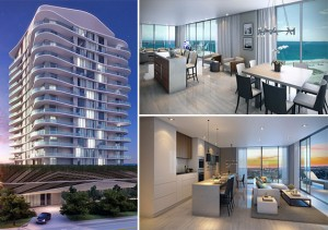 Renderings of the Sabbia Beach condo project in Pompano Beach