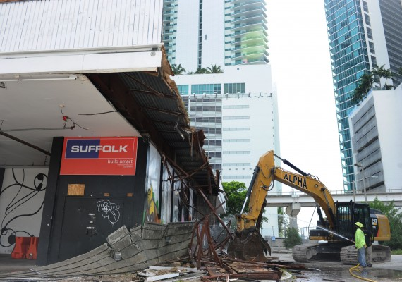 Demolition of the Mekka nightclub