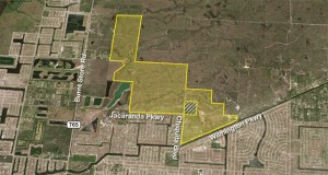 This 1,484-acre site in Coral Springs will be auctioned.
