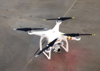 Drones can fly up to 400 feet.