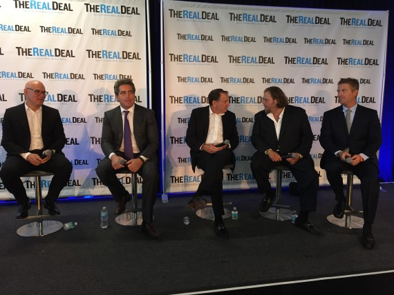 Craig Robins, Jeffrey Soffer, Richard LeFrak, Gil Dezer and Michael Simkins on the Developers' Market Outlook panel
