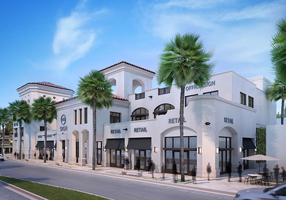 A rendering of the Las Olas Place mixed-use project in Fort Lauderdale