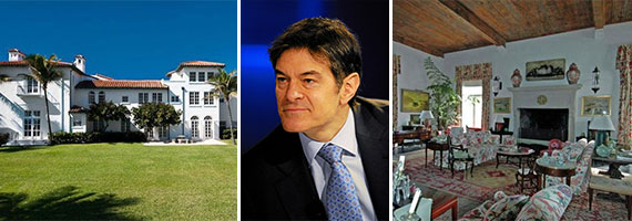 The Louwana estate in Palm Beach and Dr. Mehmet Oz (Credit: Michael Wuertenberg)