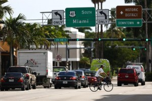 U.S. 41 in downtown Naples. (Credit: Scott McIntyre, Naples Daily News)