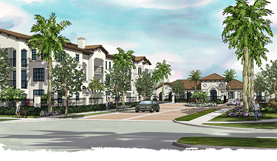 A rendering of the Residences at Intercontinental