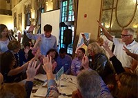 Table discussion of the US1 corridor in Coral Gables